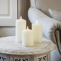 True Glow Realistic Flame Led Pillar Candle Trio
