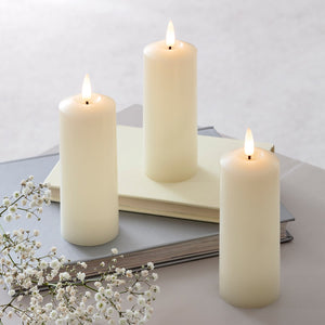 TruGlow® LED Slim Pillar Candle Trio