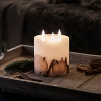 TruGlow® LED 3 Wick Winter Candle