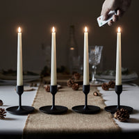4 TruGlow® Remote Control LED Taper Candles