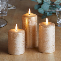 TruGlow® Copper LED Autumn Candle Trio