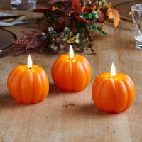 TruGlow® Pumpkin LED Autumn Candle Trio