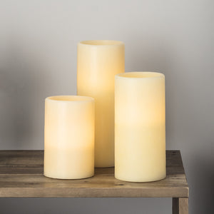 Chapel Battery LED Pillar Candle Trio