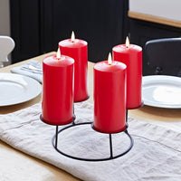 Red Berry Advent Wreath & Red TruGlow® Candle Table Decoration