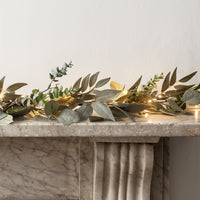 Mixed Foliage Garland with Micro Lights