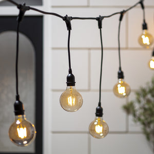 10 Large Globe Bulb Ingenious Festoon Light Bundle Staggered Drop