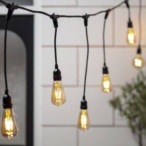 10 Squirrel Cage Bulb Ingenious Festoon Light Bundle Staggered Drop