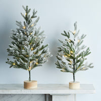 60cm Snowy Pre Lit Mini Christmas Tree