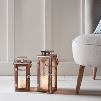 Salcombe Wooden Indoor Lanterns