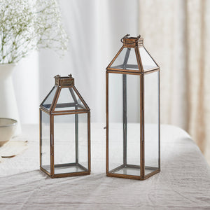 Effi Artisan Glass Lantern Duo