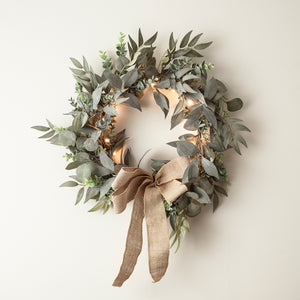 Eucalyptus & Laurel Wreath Micro Light Bundle