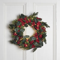 Red Berry Wreath Micro Light Bundle