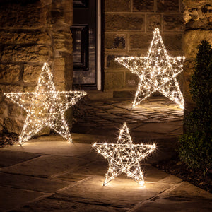 Outdoor LED Star Light Trio