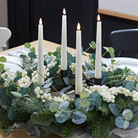 Eucalyptus Advent Wreath & TruGlow® Taper Candle Table Decoration