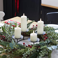 Pine Advent Wreath & Slim Ivory TruGlow® Candle Table Decoration