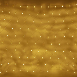 2m x 1.5m 140 Warm White LED Connectable Net Lights Clear Cable Essential Series
