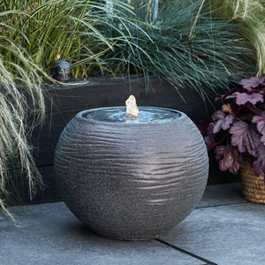 Stone Sphere Water Feature