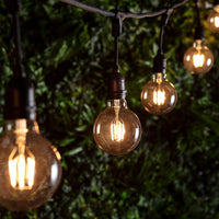 Large Globe E27 1W Led Amber Filament Bulb
