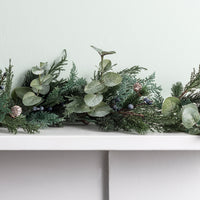 2m Frosted Berry and Pinecone Garland