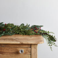 2m Pine & Red Berry Christmas Garland