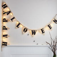 Light Up Happy Halloween Banner