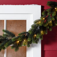 1.8m Pre Lit Outdoor Christmas Garland