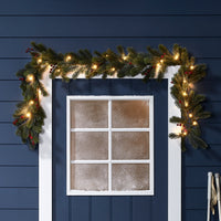 Pre-Lit Outdoor Berry Christmas Garland