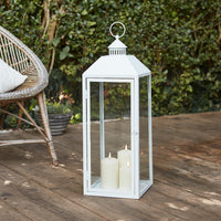 Perth Large White Garden Lantern