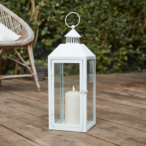 Perth Medium White Garden Lantern