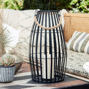 Canberra Large Slatted Outdoor Lantern