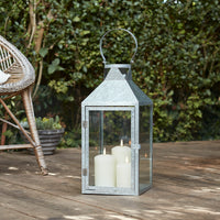 Hayle Large Galvanised Outdoor Lantern