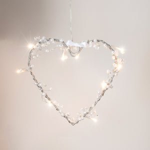 Heart Battery Fairy Light Wreath