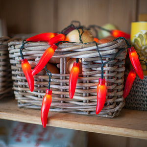 20 Red Chilli Pepper Fairy Lights