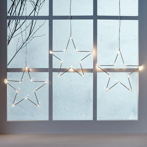 Osby Star Trio Christmas Window Light