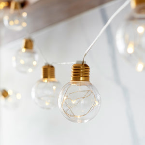 Brass Micro Battery Festoon Lights