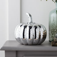 Mottled Silver Pumpkin Battery Light
