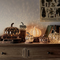 Ceramic Pumpkin Battery Light