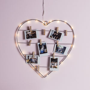 Micro Light Heart with Pegs