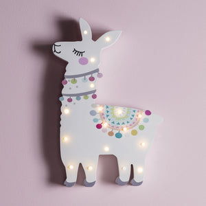 Llama Del Rey Battery Children's Wall Light