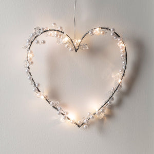 Warm White Micro Light Heart Wreath
