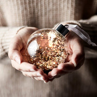 Glitter LED Christmas Bauble Trio