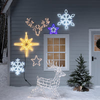 Outdoor Battery Star Christmas Silhouette