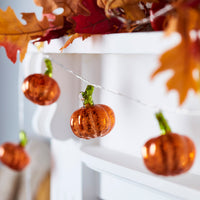 10 Mottled Pumpkin Battery Fairy Lights