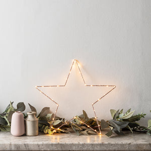 Rose Gold Osby Small Star Window Light