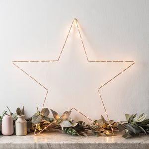 Rose Gold Osby Large Star Window Light