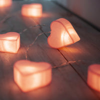 10 LED Paper Heart Battery Fairy Lights