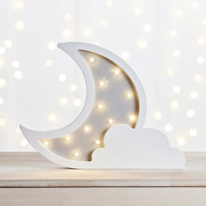 Children's Cloud & Moon Wall Light