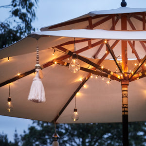 80 LED Battery Operated Parasol Lights