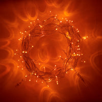 100 Amber Led Connectable Fairy Lights Clear Cable 10M