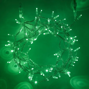 10m 100 Green LED Connectable Fairy Lights Clear Cable Core Series
